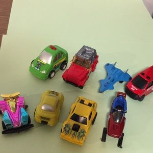 Assortment of small vehicles 8 in all as shown